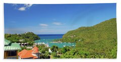 Beach Towel featuring the photograph Saint Lucia by Gary Wonning