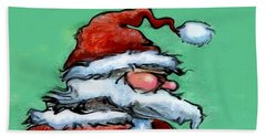 Santa Claus Beach Towel by Kevin Middleton