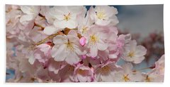 Silicon Valley Cherry Blossoms Beach Towel by Glenn Franco Simmons