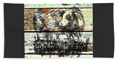 Simmental Bull Beach Sheet by Larry Campbell