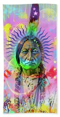 Sitting Bull Beach Towel by Gary Grayson