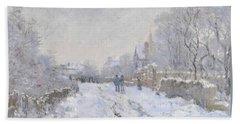 Snow Scene At Argenteuil Beach Sheet