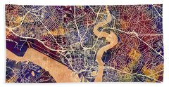 Southampton England City Map Beach Towel