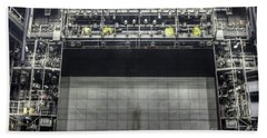 Beach Towel featuring the photograph Stage In The Abandoned Theatre by Michal Boubin