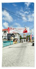 Street Scene Of San Pedro Beach Towel