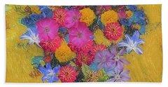 Summer Flowers Beach Sheet by Vladimir Kholostykh