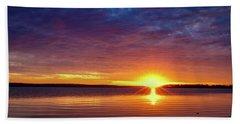 Sun Going Down Beach Towel by Doug Long