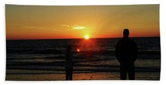 Sunset In Paradise Beach Towel by Gary Wonning