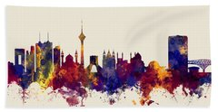 Tehran Iran Skyline Beach Towel