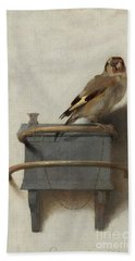 The Goldfinch Beach Towel by Carel Fabritius