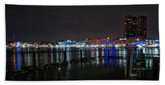 Beach Towel featuring the photograph The Harbor View by Mark Dodd