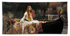 The Lady Of Shalott Beach Towel