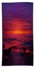 Beach Towel featuring the photograph The Path by Phil Koch