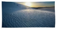 The Unique And Beautiful White Sands National Monument In New Mexico. Beach Towel