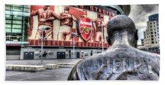 Thierry Henry Statue Emirates Stadium Beach Towel