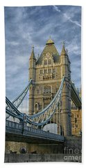Tower Bridge London Beach Towel by Patricia Hofmeester