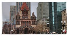 Beach Towel featuring the photograph Trinity Church - Copley Square - Boston by Joann Vitali