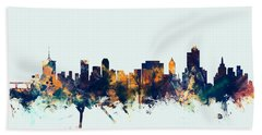 Tulsa Oklahoma Skyline Beach Towel