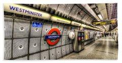 Underground London Beach Sheet by David Pyatt