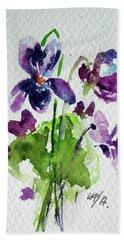 Beach Sheet featuring the painting Violet by Kovacs Anna Brigitta