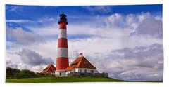 Westerhever Lighthouse Beach Towel