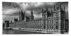 Westminster Palace Beach Sheet by Pravine Chester