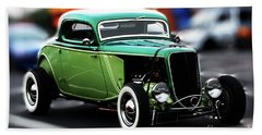 Beach Towel featuring the photograph 3 Window 1933 Ford Coupe by Baggieoldboy