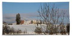 Winter Landscape  Beach Sheet