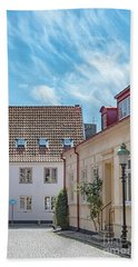 Beach Towel featuring the photograph Ystad Street Scene by Antony McAulay