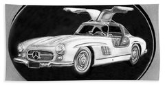 300 Sl Gullwing Beach Towel