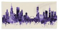 Chicago Illinois Skyline Beach Towel