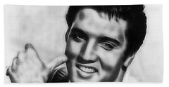Elvis Presley Collection Beach Sheet by Marvin Blaine