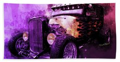 31 Ford Model A Fiery Hot Rod Classic Beach Sheet