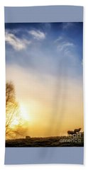 Beach Sheet featuring the photograph Misty Mountain Sunrise by Thomas R Fletcher