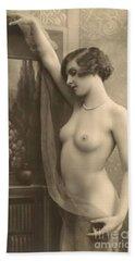 Digital Ode To Vintage Nude By Mb Beach Towel