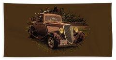 Cool 34 Ford Four Door Sedan Beach Towel
