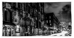 Savannah Georgia Waterfront And Street Scenes  Beach Towel