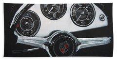 356 Porsche Dash Beach Towel