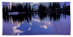 35mm Scan Of Image Lake And Glacier Peak Beach Towel