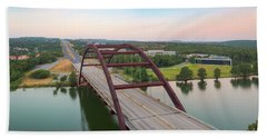 360 Bridge Panorama Summer Morning 1 Beach Towel