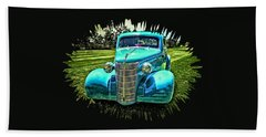 38 Chevrolet Classic Automobile Beach Towel