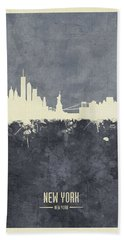 New York Skyline Beach Towel