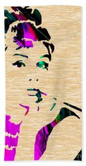 Audrey Hepburn Collection Beach Towel by Marvin Blaine