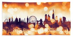 London England Skyline Beach Towel