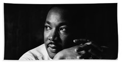 39- Martin Luther King Jr. Beach Towel by Joseph Keane