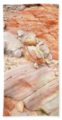Beach Towel featuring the photograph Multicolored Sandstone In Valley Of Fire by Ray Mathis