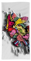 3d Popart By Nico Bielow Beach Sheet by Nico Bielow