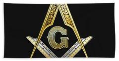 3rd Degree Mason - Master Mason Masonic Jewel  Beach Towel