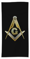 3rd Degree Mason - Master Mason Masonic Jewel  Beach Towel