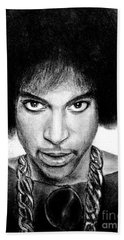 3rd Eye Girl - Prince Charcoal Portrait Drawing - Ai P Nilson Beach Towel
